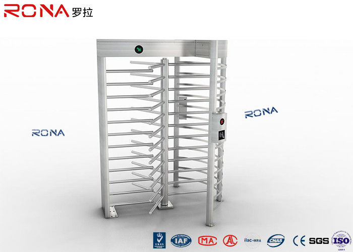 Rainproof Full Height Turnstile Safety Gate Barrier Stainless Steel Access Control