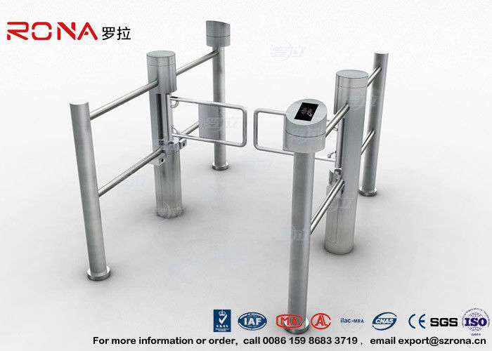 Double Core Biometric Pedestrian Security Gates Stainless Steel With Access Control