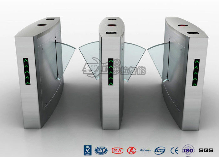 Waist Height Turnstile Access Control Automatic Flap 12V DC With Ticketing System