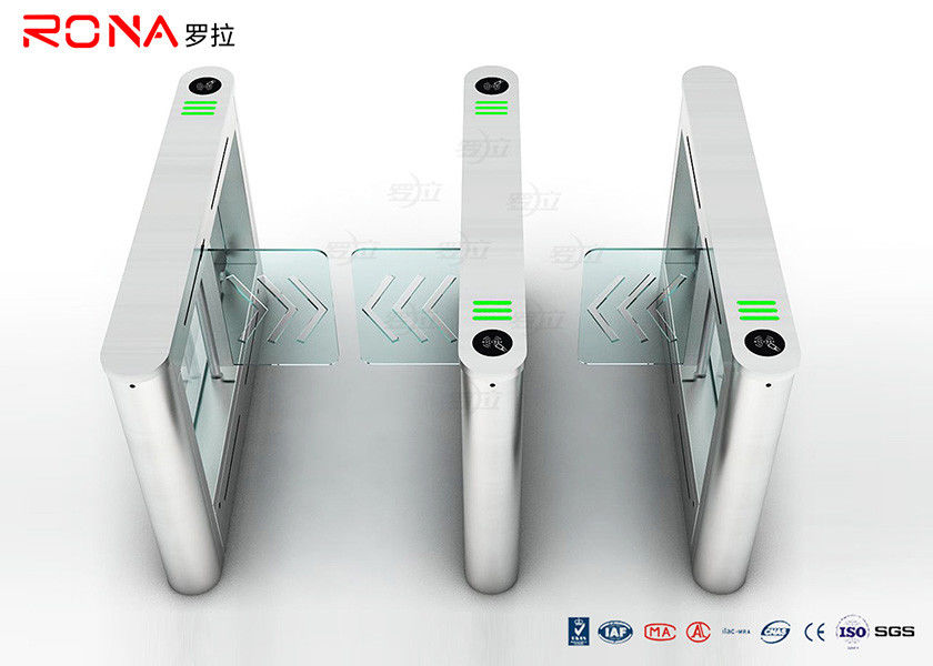 High Speed Card Reader Pedestrian Security Gates Access Control With Acrylic Swing Arm